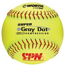 "Worth SPN Grey Dot 12"" Softball"