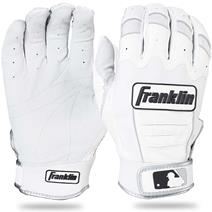 Franklin CFX Pro Baseball Batting Gloves - Pearl/White