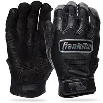 Franklin CFX Pro Chrome Baseball Batting Gloves - Black