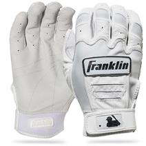 Franklin CFX Pro Chrome Baseball Batting Gloves - White