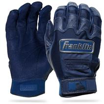 Franklin CFX Pro Chrome Baseball Batting Gloves - Navy