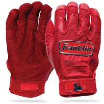 Franklin CFX Pro Chrome Baseball Batting Gloves - Red