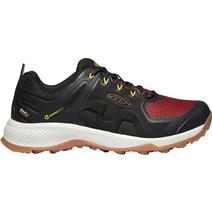 Keen Explore Men's Waterproof Hiking Shoes - Black/Fired Brick
