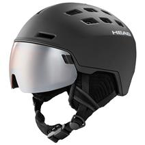 Head Radar Ski Helmet W/Spare Lens - Black